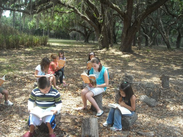 Students Reading A Land Remembered
